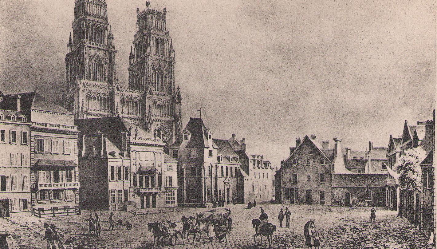 L'ancien Hôtel-Dieu, situé face à l'Institut musical/démoli en 1846