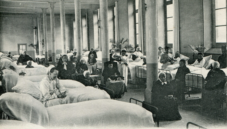 Hôpital Général : Salle Sainte Catherine/Rez de chaussée/à l'emplacement du self de l'ancien Hôpital Porte Madeleine